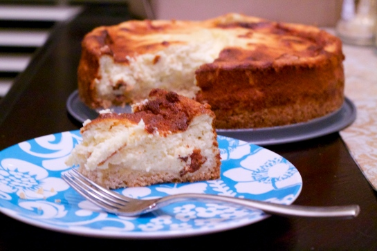 german cheesecake - light fluffy, and not too sweet